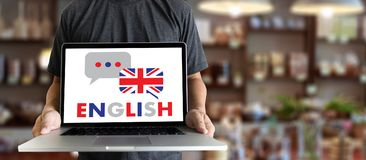 ENGLISH ( British England Language Education ) do you speak engl Stock Photography