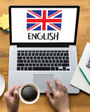 ENGLISH ( British England Language Education ) do you speak engl Royalty Free Stock Photography
