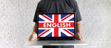 ENGLISH ( British England Language Education ) do you speak engl Stock Photos