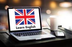 ENGLISH ( British England Language Education ) Learn English Lan. Guage Online Stock Image