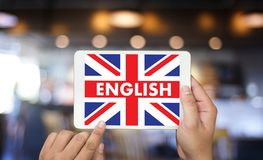 ENGLISH ( British England Language Education ) Learn English Lan. Guage Online Stock Images