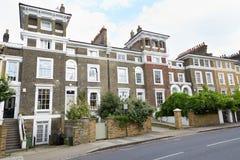 English brown bricks houses in London Royalty Free Stock Image