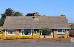 English bungalow houses Royalty Free Stock Image