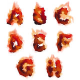 English  burning alphabet Royalty Free Stock Image