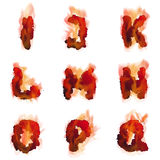 English  burning alphabet Stock Photography