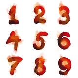 English  burning numbers. Vector illustration of  English  burning numbers for design Royalty Free Stock Image