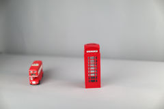 English bus and phone booth Royalty Free Stock Images
