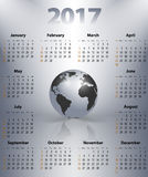 English business calendar for 2017 Royalty Free Stock Photo