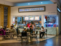 English cafe in the food court of Dubai Mall Stock Image