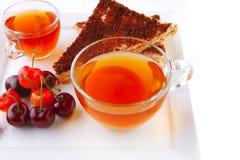 English cake and tea stock photography