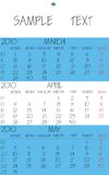 English calendar 2010 april Royalty Free Stock Images