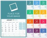 Free English Calendar 2019 Stock Photography - 122344192