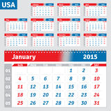 English calendar 2015 Royalty Free Stock Image