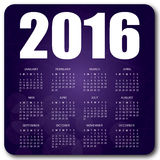 2016 English calendar purple. 2016 English calendar over purple background vector no shadow on the vector version 10 Stock Photos