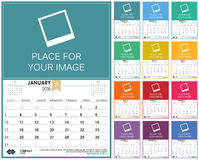English calendar 2016 Royalty Free Stock Images