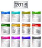 2015 English calendar Royalty Free Stock Photos