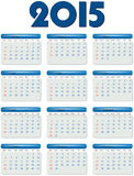 English calendar of 2015 year Royalty Free Stock Images