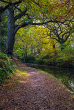 An English canal in Autumn. Royalty Free Stock Photography