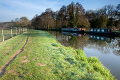 English Canal Tow Path Stock Photo