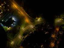 English car junction from above uk royalty free stock image