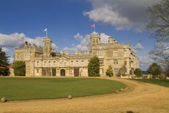 English castle. With Union Jack in the wind Stock Images