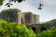 English Castle ruins Corfe Dorset England Purbeck Hills Royalty Free Stock Images