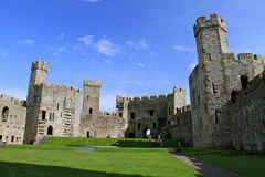 English castle ruins Royalty Free Stock Image
