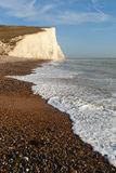 English chanel coast at Seven sisters cliffs, UK. Stock Image