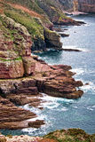 English Channel Cliffs in Brittany France Stock Image