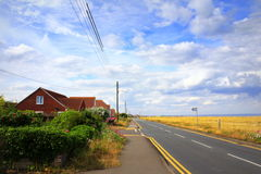 English Channel coastal road United Kingdom Royalty Free Stock Photography
