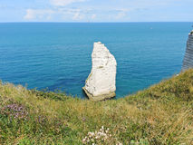 English channel near beach of Etretat Royalty Free Stock Image