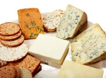 English cheese platter horizontal Royalty Free Stock Image