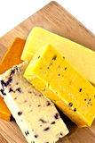 English cheeses Stock Images