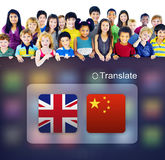 English Chinese Languages Translation Application Concept Stock Photography