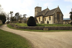 English church. Scenic english country church in oxfordshire Royalty Free Stock Photos