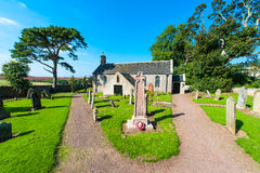 English church and cemetery Royalty Free Stock Photo