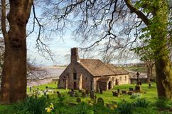 English church and graveyard Royalty Free Stock Photo