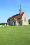 English church on green lawn Stock Image