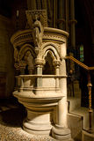 English church stone pulpit Stock Photography