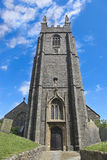 English Church Tower. Old Church Bell Tower in Cornwall England Royalty Free Stock Photography