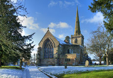 English church in winter Royalty Free Stock Images