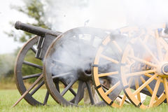 English civil war cannons Stock Image