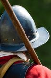 English Civil War Soldier. Back view of an English Civil War soldier royalty free stock photo