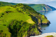 English Coast in Devon County England Stock Photos