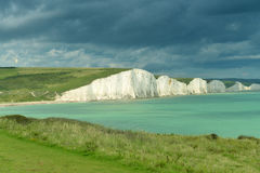 English coast - Seven sisters cliff. Image was taken in July 2012 near Seaford in UK Royalty Free Stock Photo