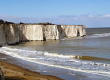 English Coastline. White Cliffs on the South East Coast of England Stock Photography