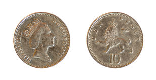 English coin Royalty Free Stock Photography