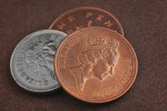 English coins Stock Photos
