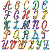 English colorful alphabet for children Stock Photos