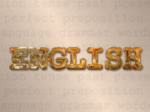English concept Stock Photography
